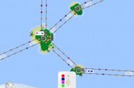 An den Knotenpunkten kann genau eingestellt werden, welche Waren transportiert werden sollen.