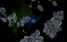 Mit Asteroidenfeldern startet man die Reise